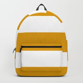 Golden Honey and White Large Stripes Pattern Backpack