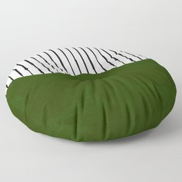 lines and wave (green) Floor Pillow