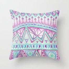 Spring Zentangle  Throw Pillow