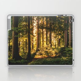 Woods  - Forest, green trees outdoors photography Laptop & iPad Skin