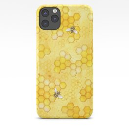 Meant to Bee - Honey Bees Pattern iPhone Case