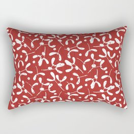 Rustic Mistletoe - Red Rectangular Pillow