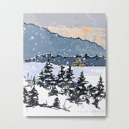 Winter Montains Metal Print