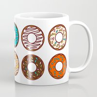 donuts Mugs featuring Donuts by TinyBee