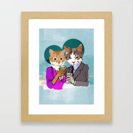 Kitty Cocktails Framed Art Print