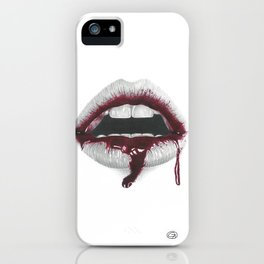 Avidità / Greed - Blood Lips - Mouth iPhone Case