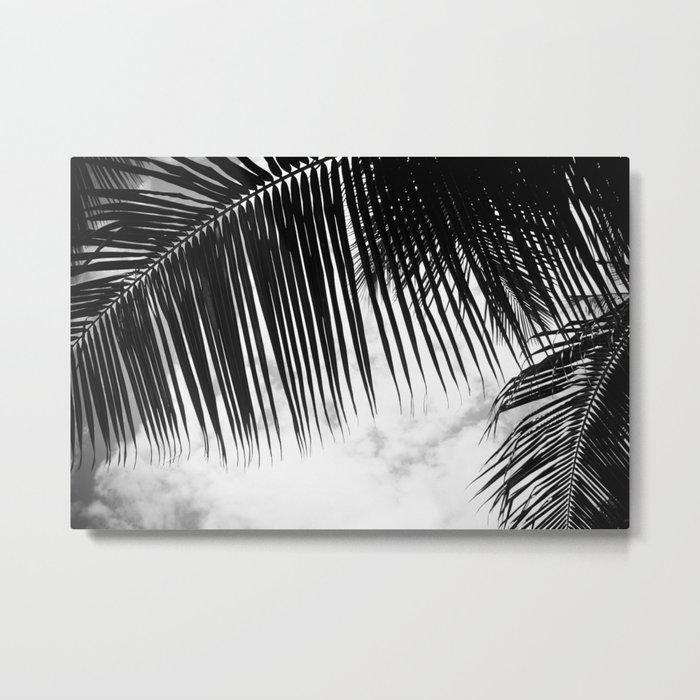 maui paradise palms hawaii monochrome Metal Print