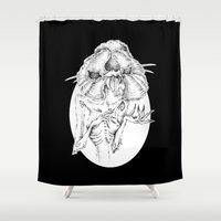 orchid Shower Curtains featuring orchid by vasodelirium