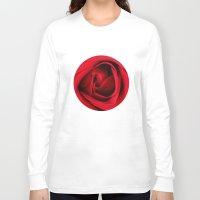 card Long Sleeve T-shirts featuring GREETING CARD by mark ashkenazi