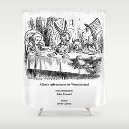 "John Tenniel, "" Alice's Adventures in Wonderland "" Shower Curtain"