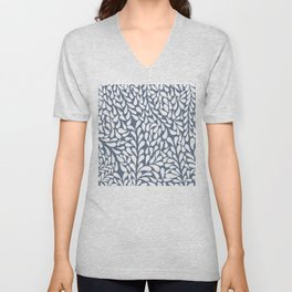 Elegant Abstract Grey Drops Pattern Unisex V-Neck