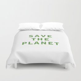 Save The Planet Duvet Cover