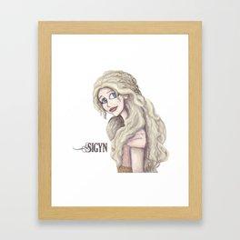 Sigyn, Goddess of Constancy Framed Art Print