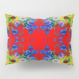 WESTERN YELLOW & RED GARDEN GOLD BLUE FLOWERS Pillow Sham