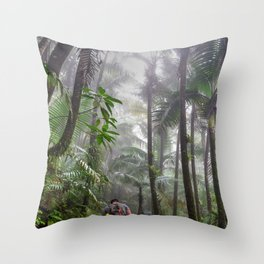 The Cloud forest - before Maria - El Yunque rainforest PR Throw Pillow