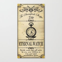 Steampunk Apothecary Shoppe - Watch Canvas Print
