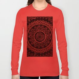 Mandala - rose gold and black marble Long Sleeve T-shirt