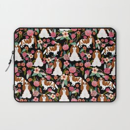 Blenheim Cavalier King Charles Spaniel dog breed florals pattern Laptop Sleeve