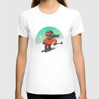 ski T-shirts featuring Ski by nicosarmiento