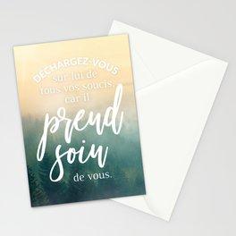 Dieu prend soin de vous Stationery Cards