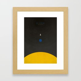 Don't Fear The Dark. Go Further. Framed Art Print