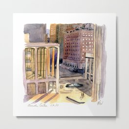 Lincoln Center Bathed in Light Metal Print