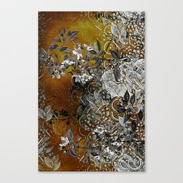 Amber Chinese Silk Canvas Print