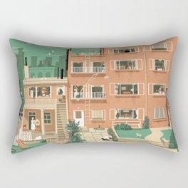 Hitchcock's Rear Window Rectangular Pillow