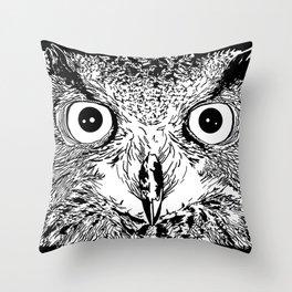 The Elder Owl Throw Pillow