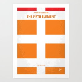No112 My Fifth Element minimal movie poster Art Print