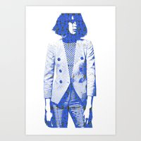 suit Art Prints featuring Suit by fashionistheonlycure