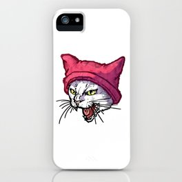 The Cat in the Hat (White) iPhone Case