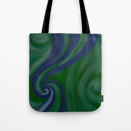 BLUE and green SWIRL Tote Bag