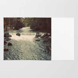 Rocky River Waterfall Englischer Garten Germany Color Photo Isar River Rug