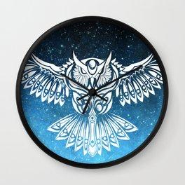 Heavenly Owl // Space Mosaic Wall Clock
