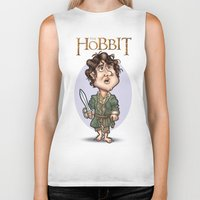 hobbit Biker Tanks featuring The Hobbit by Roberto Núñez