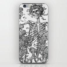 SKELETON AND ROSE BUSHES iPhone & iPod Skin