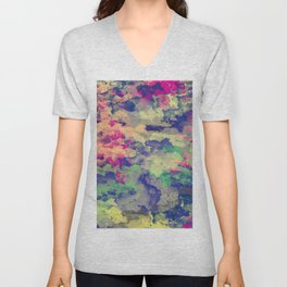 Abstract painting X 0.3 Unisex V-Neck