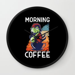 Morning Frog Wall Clock