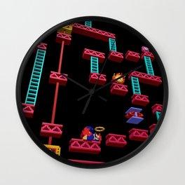 Inside Donkey Kong stage 3 Wall Clock