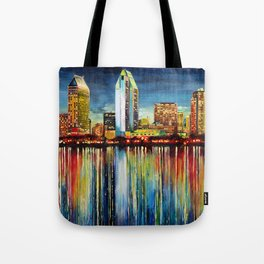 San Diego Panorama Tote Bag