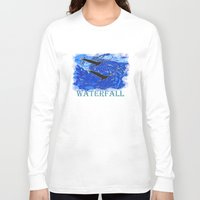 waterfall Long Sleeve T-shirts featuring Waterfall by Avigur