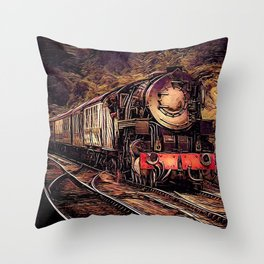 Steam Abstraction Throw Pillow