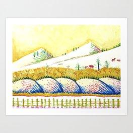 Tenderness Breaks Open the Earth Art Print