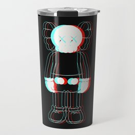 Trippy Kaws Travel Mug