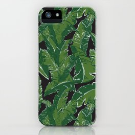 Leaves Bananique in Black Pearl iPhone Case