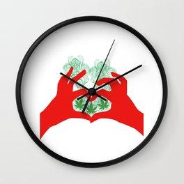 Weed Love Wall Clock