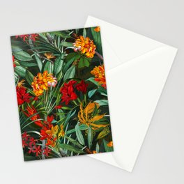 Vintage & Shabby Chic - Colorful Tropical Night Garden Stationery Cards