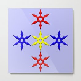 Shuriken Design version 2 Metal Print