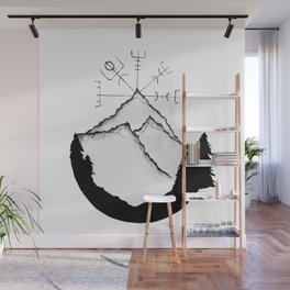 Mountain Compass Wall Mural